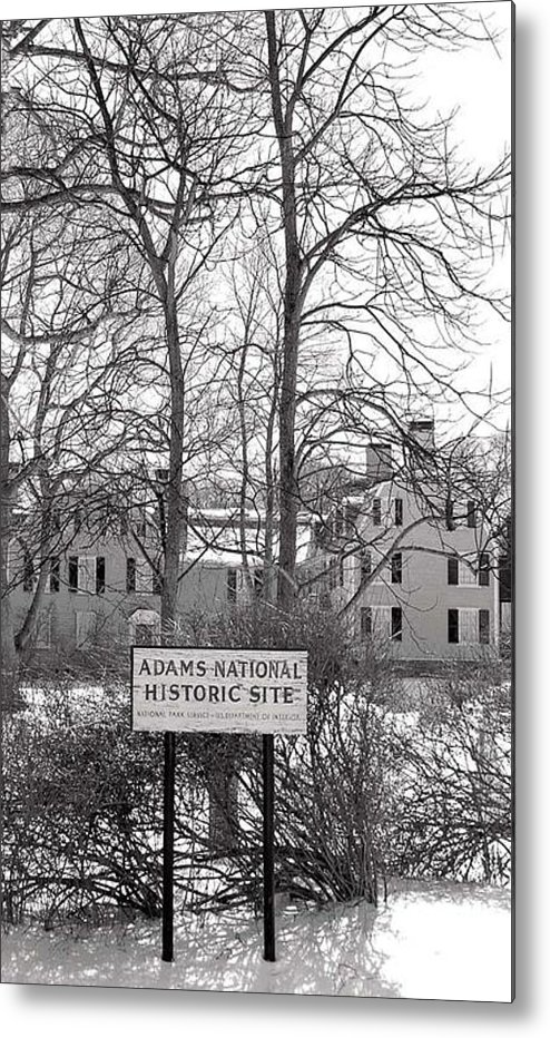 John Quincy Adams Metal Print featuring the photograph John Quincy Adams House Ll by Heather Weikel