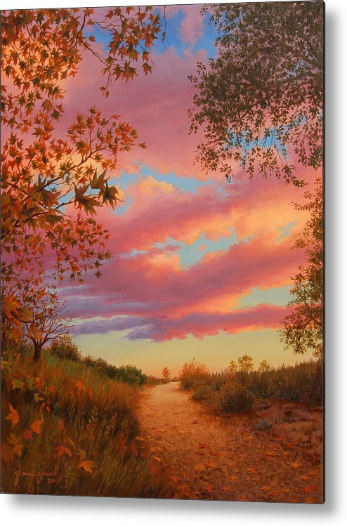 Sunset Metal Print featuring the painting Solitude by Johanna Girard