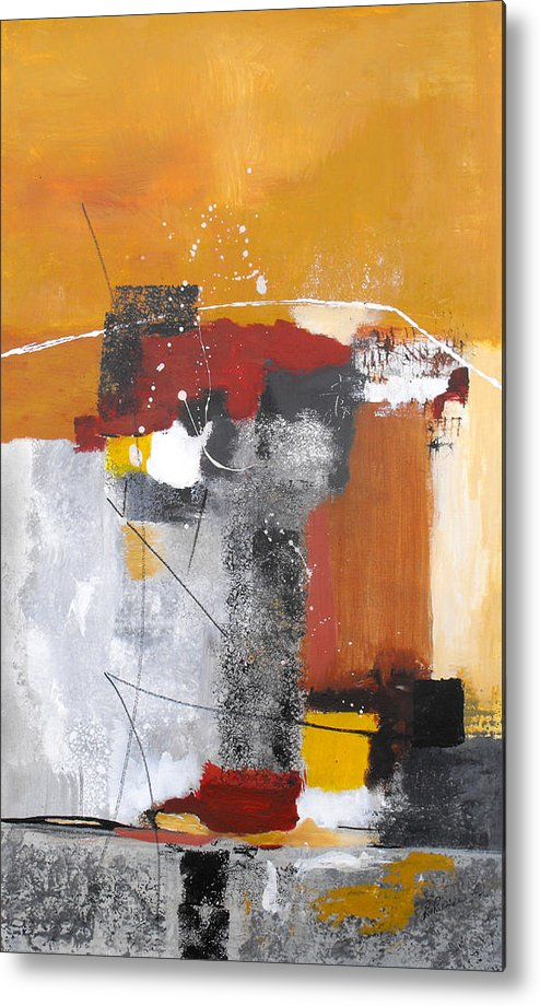 Abstract Metal Print featuring the painting Special Circumstances by Ruth Palmer