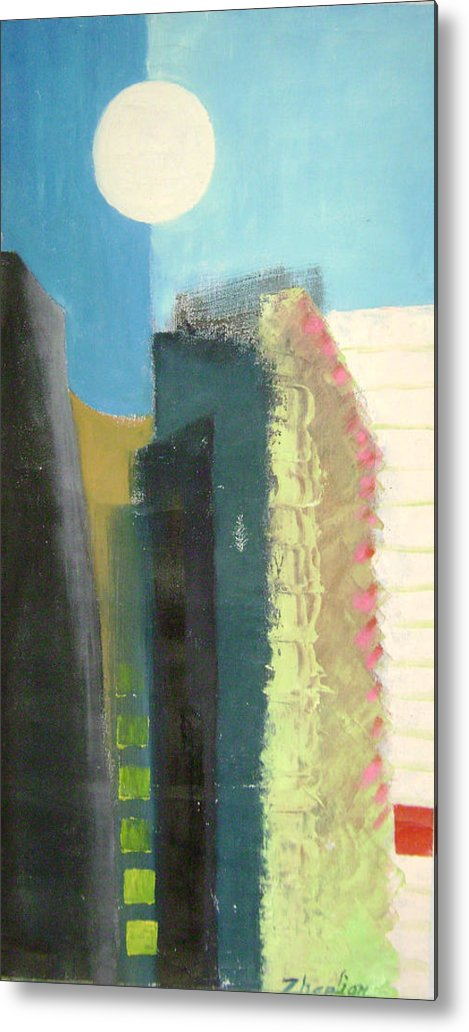 Abstract Metal Print featuring the painting Dream City No.2 by Lian Zhen