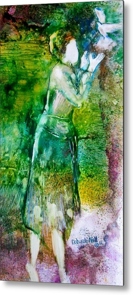Dove Metal Print featuring the painting No More Shackles by Deborah Nell