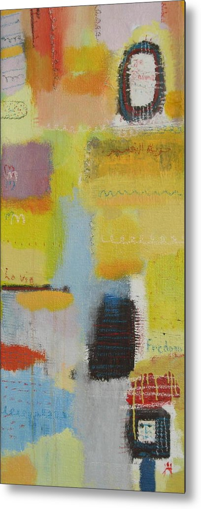 Abstract Metal Print featuring the painting Abstract Life 3 by Habib Ayat