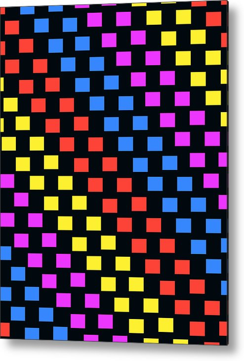 Louisa Metal Print featuring the digital art Colorful Squares by Louisa Knight