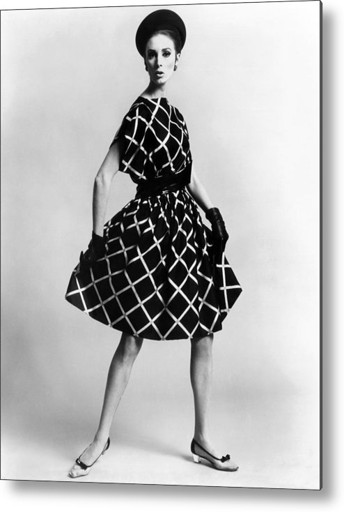 History Metal Print featuring the photograph Dress By Pauline Trigere. Short by Everett
