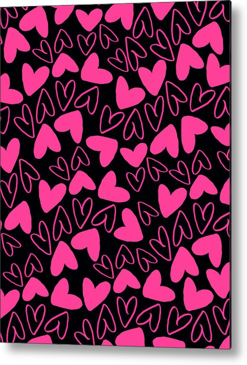 Heart Metal Print featuring the digital art Hearts by Louisa Knight