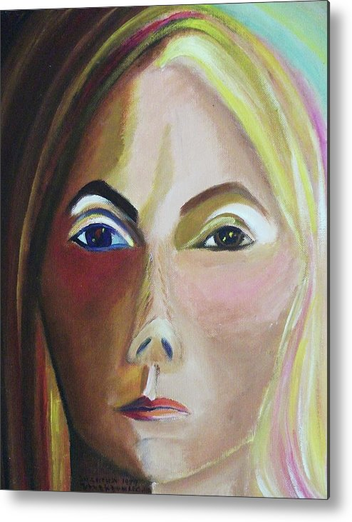 Self Portrait Metal Print featuring the painting Self Portrait by Suzanne Marie Leclair
