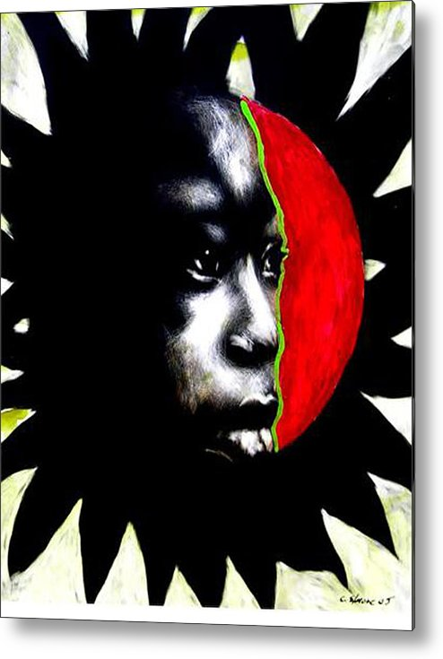 Metal Print featuring the mixed media 70 Sunshine by Chester Elmore