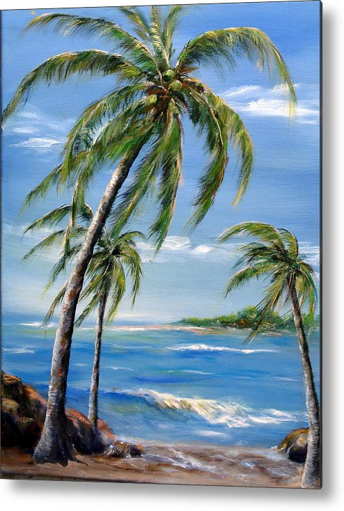Hawaii Metal Print featuring the painting Balmy Breeze by Thomas Restifo