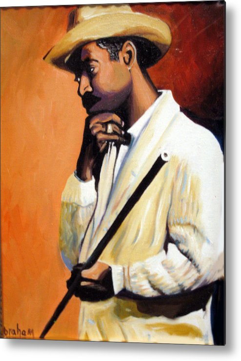 Cuban Art Metal Print featuring the painting Benny 2 by Jose Manuel Abraham