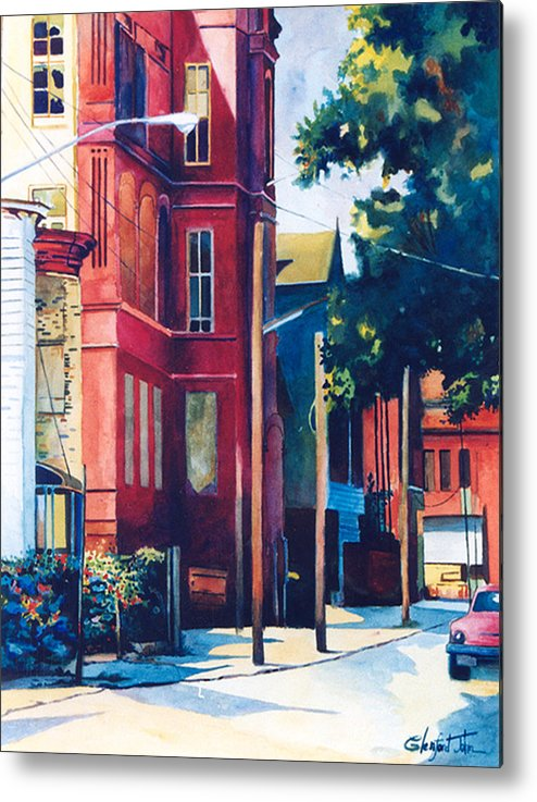 Urban Scenery Metal Print featuring the painting Brooklyn by Glenford John