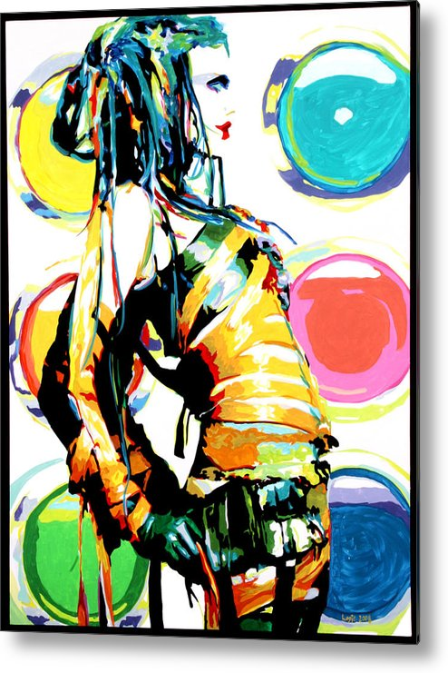 Bobby Logic Metal Print featuring the painting bubblegum Bondage by Bobby Logic