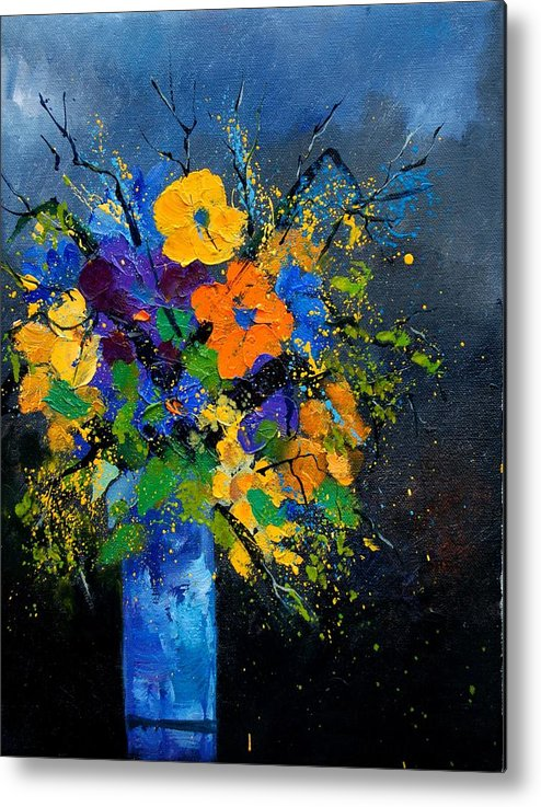 Poppies Metal Print featuring the painting Bunch 1007 by Pol Ledent
