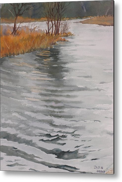 Metal Print featuring the painting Cold Water by Debbie Homewood