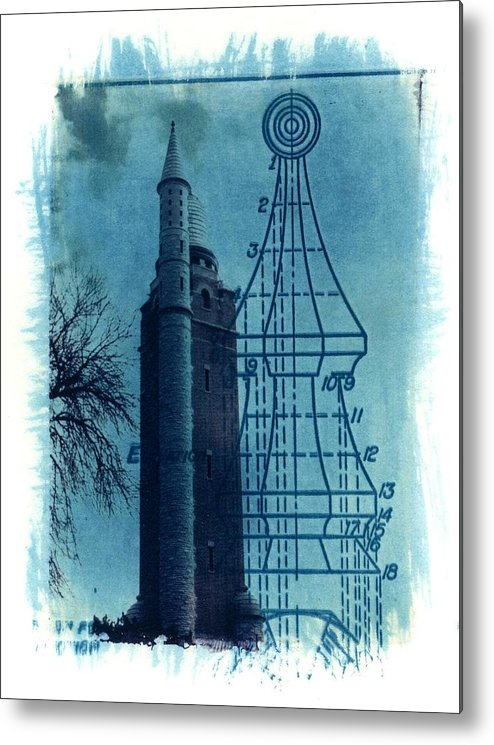 Alternative Process Photography Metal Print featuring the photograph Compton Blueprint by Jane Linders