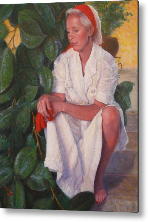 Realism Metal Print featuring the painting Contemplation by Donelli DiMaria