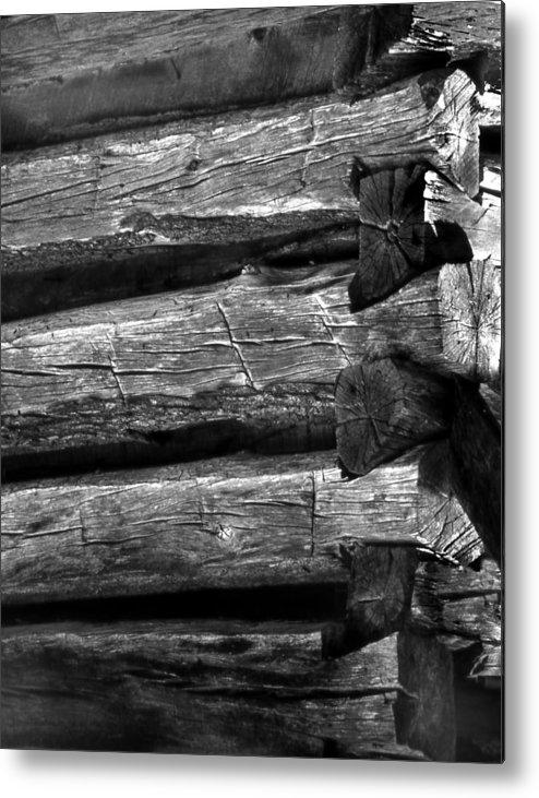 Ansel Adams Metal Print featuring the photograph Corner-logs by Curtis J Neeley Jr