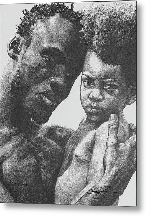 Dads Metal Print featuring the drawing Daddy's Home by Curtis James