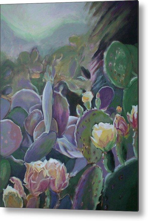 Cactus Metal Print featuring the painting Desert Life by Aleksandra Buha