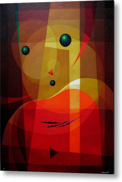#abstract Metal Print featuring the painting Doors Of Perception by Alberto DAssumpcao
