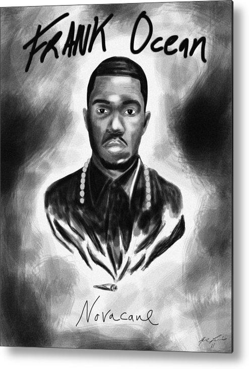 Frank Ocean Novacane Inspired Metal Print featuring the drawing Frank Ocean Novacane Inspired by Kenal Louis