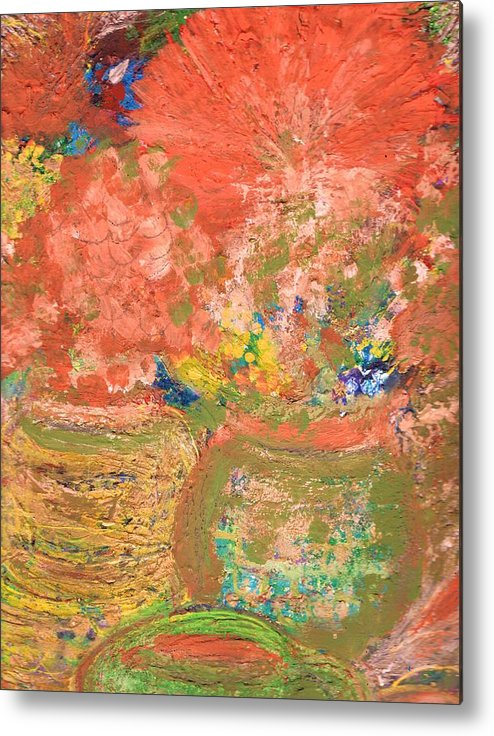 Flores Metal Print featuring the mixed media Good Morning El Mundo by Anne-Elizabeth Whiteway
