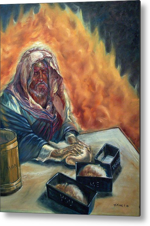 Jesus Metal Print featuring the painting He Don't Make No Trash by Tommy Winn