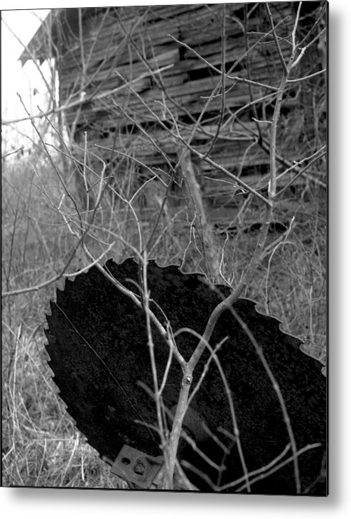Ansel Adams Metal Print featuring the photograph House-saw-old by Curtis J Neeley Jr