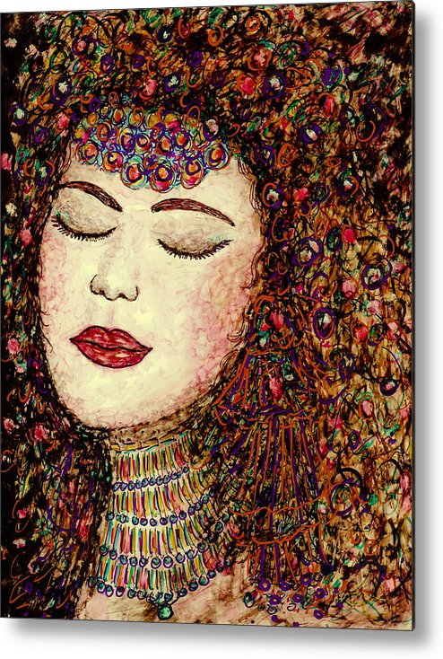 Jewel Metal Print featuring the painting Jewel by Natalie Holland
