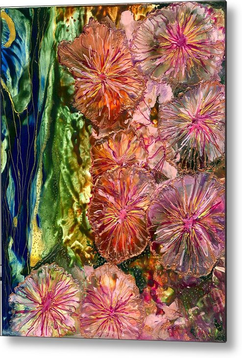 Flowers Metal Print featuring the painting Karen by Heather Hennick