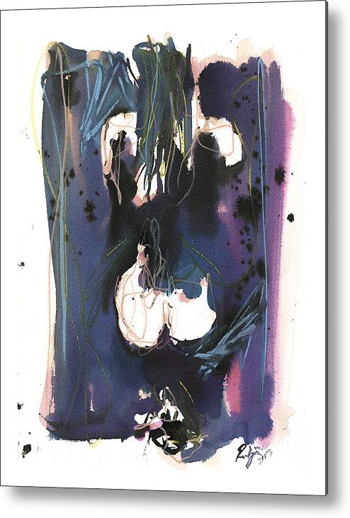 Figure Metal Print featuring the painting Kneeling by Robert Joyner