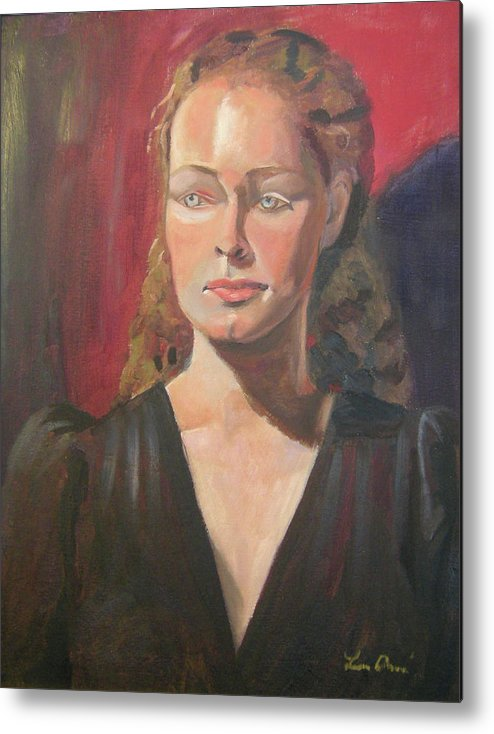 Portrait Metal Print featuring the painting Lady Ann by Lilibeth Andre