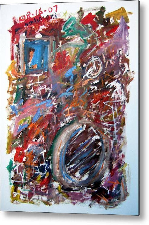 Abstract Metal Print featuring the painting Large Abstract No. 6 by Michael Henderson