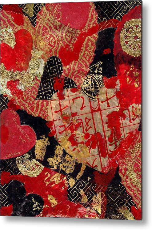 Hearts Metal Print featuring the mixed media Love by Evelynn Eighmey