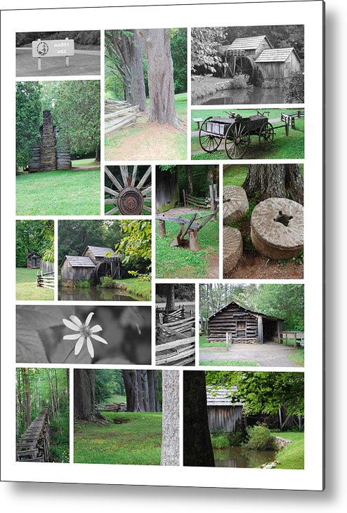 Water Metal Print featuring the photograph Mabry Mill by Eric Liller