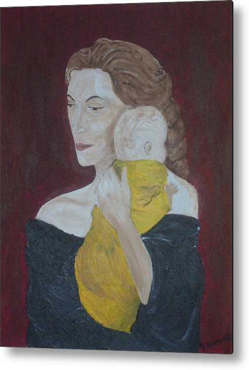 Mother Metal Print featuring the painting Mother And Child by Jennifer Hernandez