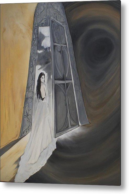 Open Door Metal Print featuring the painting Open Door by Colin O neill