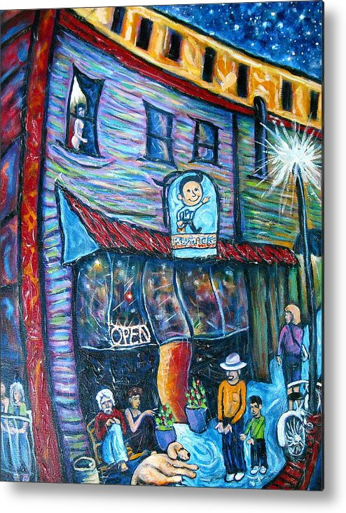 Flagstaff Metal Print featuring the painting Payntake by Steve Lawton