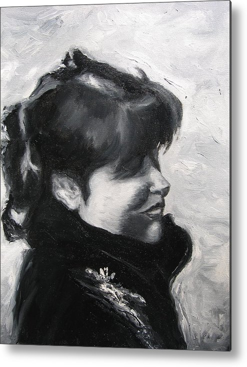 Portrait Metal Print featuring the painting Sophia by Moby Kane