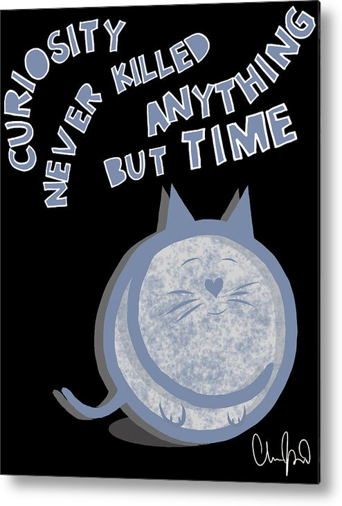 Curious Cat Metal Print featuring the digital art The Curious Cat by Christopher Raetz