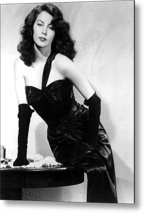 1940s Portraits Metal Print featuring the photograph The Killers, Ava Gardner, 1946 by Everett