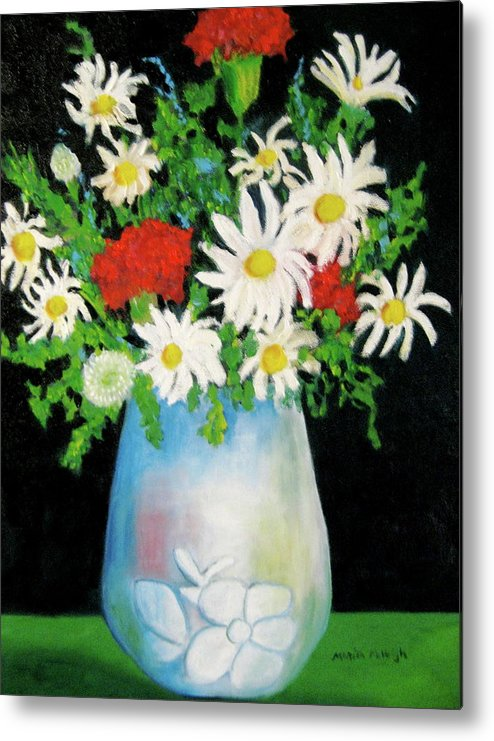 Flowers Metal Print featuring the painting Thinking Of You by Marita McVeigh