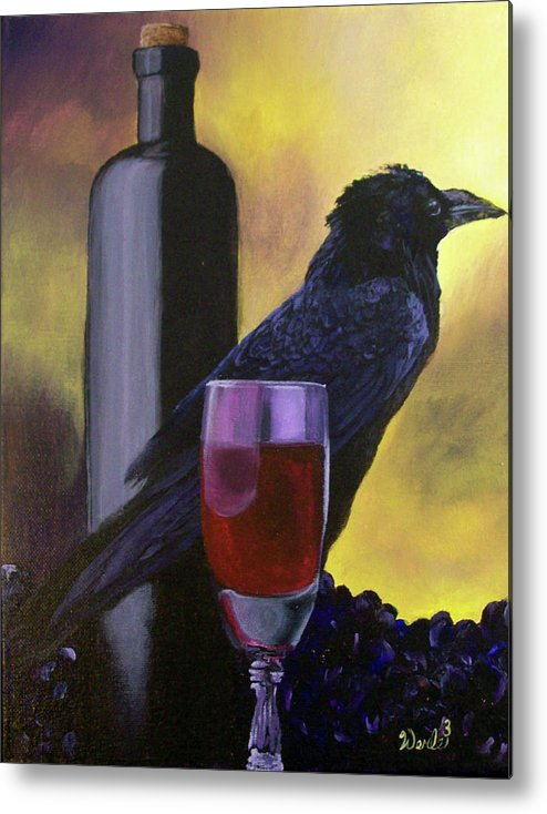 Raven Paintings Metal Print featuring the painting To The Victor Go The Spoils by Bill Werle