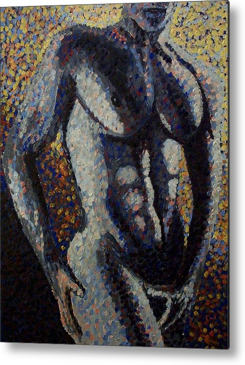Metal Print featuring the painting Torso by Mats Eriksson