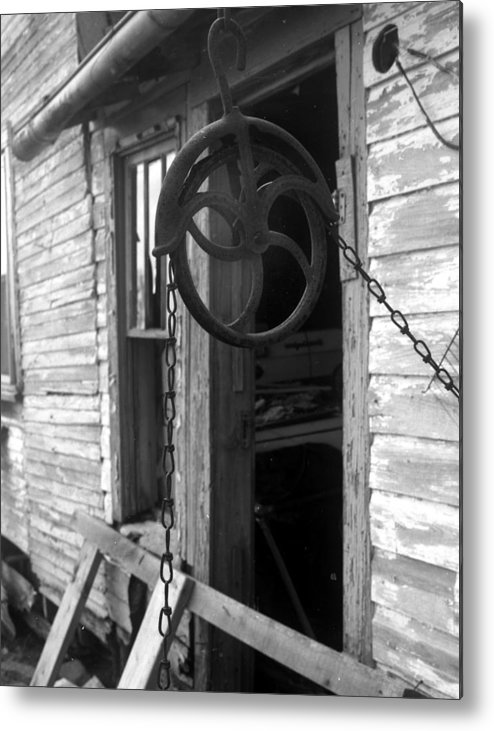 Ansel Adams Metal Print featuring the photograph Waterpulley by Curtis J Neeley Jr