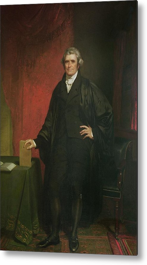 Portrait Metal Print featuring the painting Chief Justice Marshall by Chester Harding