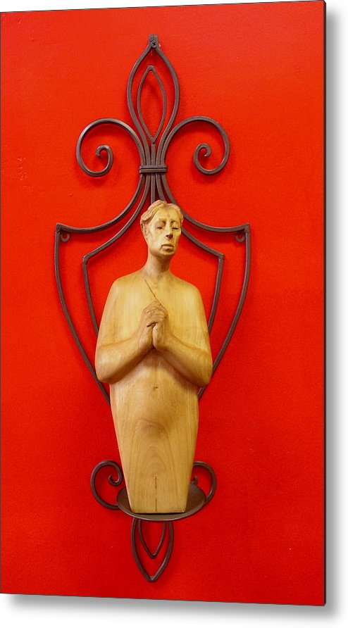 Figure Metal Print featuring the sculpture Untitled by Victor Amor