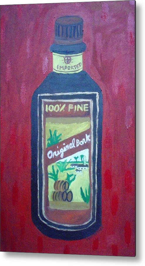 Oil On Canvas Metal Print featuring the painting Rum by Patrice Tullai