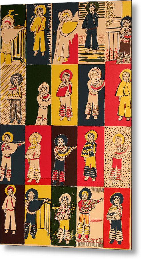 Metal Print featuring the painting Twenty Little Mexicans by Biagio Civale
