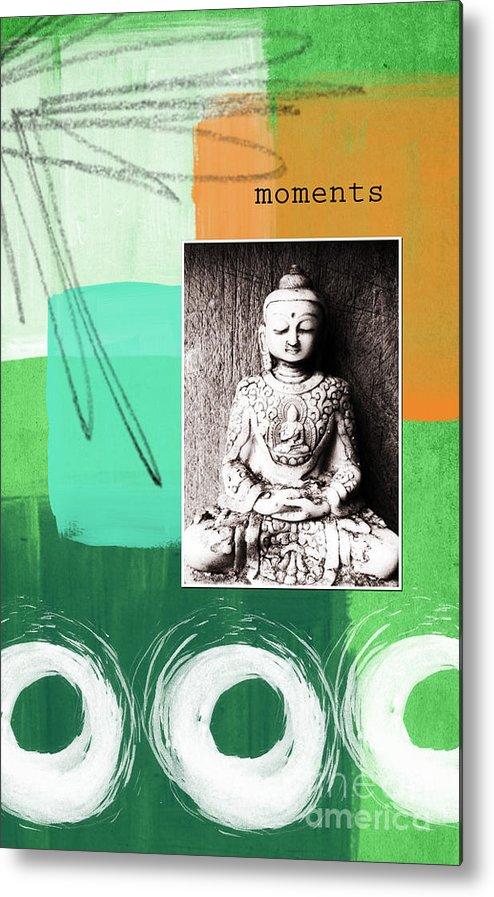 Zen Metal Print featuring the mixed media Zen Moments by Linda Woods