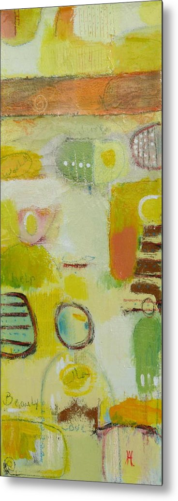 Metal Print featuring the painting Abstract Life 2 by Habib Ayat